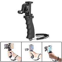 "Fantaseal® Ergonomic Action Camera Grip Mount Action Cam Handheld Stabilizer Support Action Camera Handle Steadycam Selfie Stick for GoPro Grip GoPro Handle Mount GoPro Stabilizer GoPro Selfie Stick GoPro Support Bracket w/ Smartphone Clip (UP TO 5.5"" Screen) for GoPro Hero 5/ 4 /3+/3/ Session / SJCAM SJ4000 WIFI / Garmin Virb XE / Xiaomi Yi / DBPOWER QUMOX Akaso Apeman etc GoPro-Like Action Cam , Versatile Action Camera Handheld Grip Micro Movie Shooting System (Improved Version)"