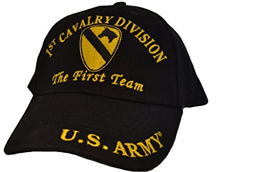 Eagle Emblems Mens 1st Cavalry Division Embroidered Ball Cap Adjustable Black (1st Cavalry Ball Cap)