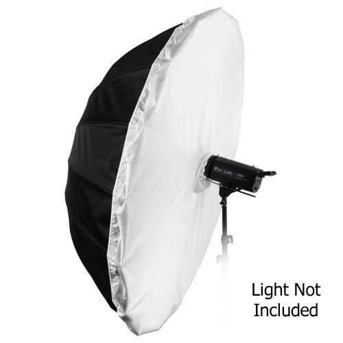Fotodiox Pro 16-rib, 72'' Black and White Reflective Parabolic Umbrella with Neutral White Diffusion Cover by Fotodiox