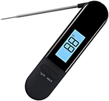 Meat Food Thermometer Waterproof,Instant Read Cooking Thermometer with Magnet for Kitchen BBQ Baking Grill