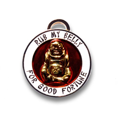 Pet Collar Charm (Luxepets Pet Collar Charm, Lucky Buddha, Gold)