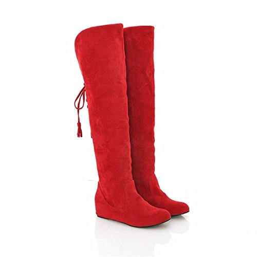 Round knee long canister boots and scrub gules vkuDBJM
