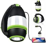 CORNMI Rechargeable Camping Lantern,6 Light Modes Waterproof Portable Tent Light Flashlight Lanterns with 1000