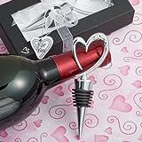 Distinctively Modern Heart Design Wine Bottle Stopper - 72 count