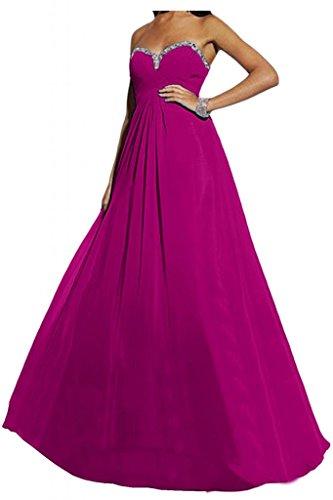 Toscana sposa elegante completamente a forma di cuore Chiffon sera abito lungo sposa giovane lontano Party Ball Bete vestimento viola 50