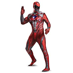 Disguise Mens Red Ranger Movie Bodysuit Costume