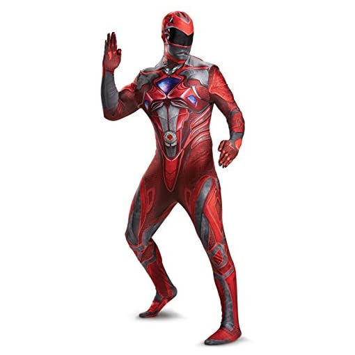 Disguise Men's Red Ranger Movie Bodysuit Costume