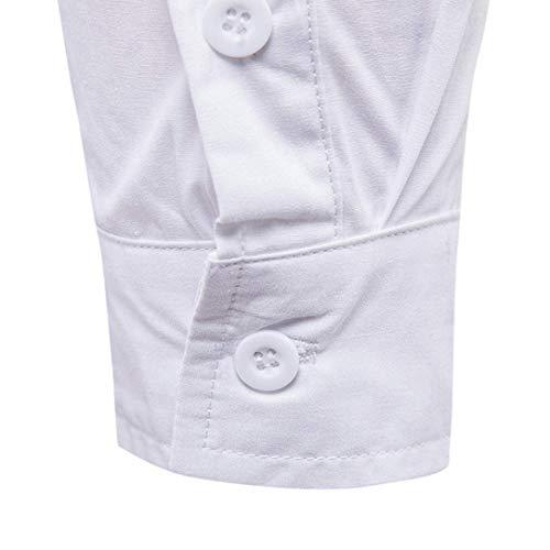 de Un Blanc Xxl Blanc Mensg Shirt Xx large Pullover Fit manchette Couleur col V Slim Taille Design Zhrui à manches rabattu Casual Coat Uk Vente longues Blanc bouton fzdPqqw8