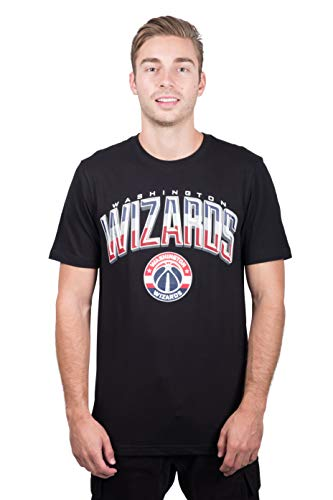 NBA Washington Wizards Men's T-Shirt Arched Plexi Short Sleeve Tee Shirt, Large, Black