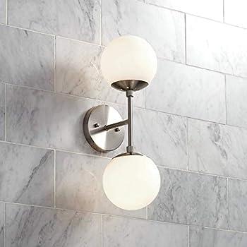 Rivet Mid Century Modern Double Glass Globe Wall Sconce