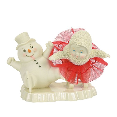 "Department 56 Snowbabies Skating Lessons Porcelain Figurine, 3.46"""