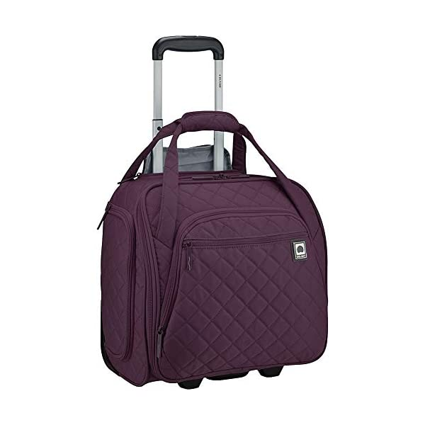 Delsey Quilted Rolling Underseat Bag For Carry-On Fits Overhead & Under Airline...