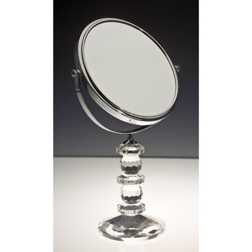 Godinger 44544 Faceted Crystal Mirror with Stand (Godinger Mirror)