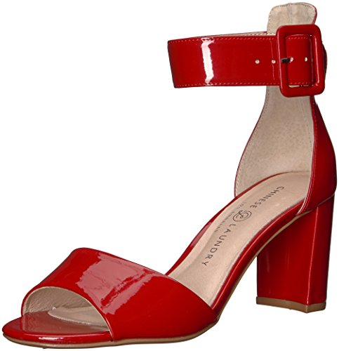 Chinese Laundry Leather Heels - Chinese Laundry Women's Rumor Heeled Sandal, Red Patent, 7.5 M US