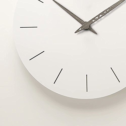 FlorLife White Wall Clock 12 Inch Sweep for Room, Bathroom, Bedroom,