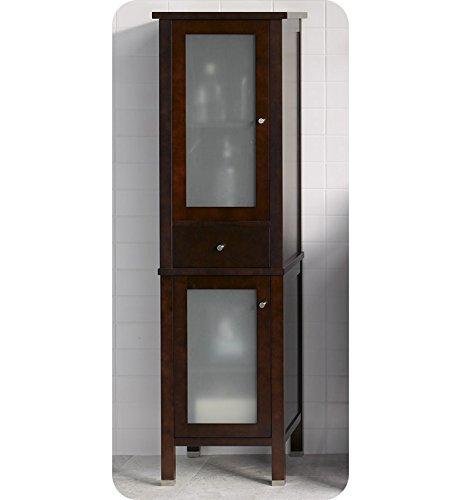 (Ronbow 670019-2-H01 Contemporary Linen Cabinet Storage Tower in Dark Cherry)
