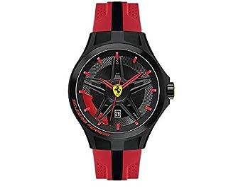 Scuderia Ferrari 0830159 Uhr Herrenuhr Kautschuk Kunststoff 5 bar Analog Datum rot
