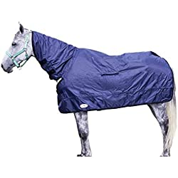 """Derby Originals Breathable Horse Show Rain Cover Sheet (XL (78"""" to 81""""), Navy)"""