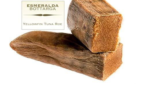 Atún de aleta amarilla Esmeralda bottarga - Caviar mediterráneo - (huevas de atún) de Cerdeña 70~100 gr: Amazon.es: Alimentación y bebidas