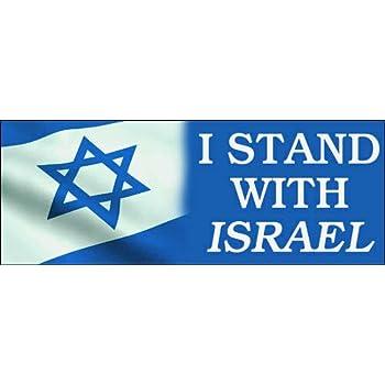 I Stand With Israel Pro Israeli Jewish Support Kitchen Refrigerator Magnet