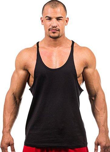 Noir Acvip Sans Corps Sport Homme Jogging T Débardeur Gilet Fitness De shirt Manche HaAwH