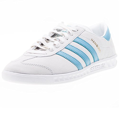 Adidas Hamburg, crystal white/blanch sky/ftwr white - multicolor