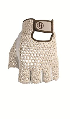 HJ Glove Women's Snow White Original Half Finger Golf Glove
