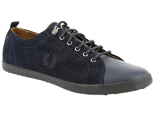 Fred Perry Kingston Tumbled Leather Navy B2111608, Deportivas