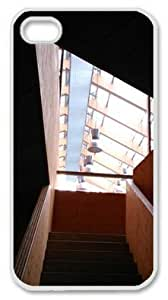 Iphone 4 4s PC Hard Shell Case Attic Stairs Window View White Skin by Sallylotus