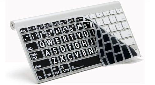 Apple Ultra Thin LogicSkin White on Black Keyboard Skins Cov