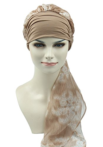 Easy Wear Chemo Caps For Women Cancer Scarves Hats Elastic Beanie - Easy Cable Scarf