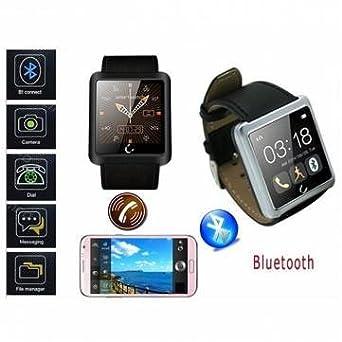 Amazon.com: White Waterproof U10 Sport Bluetooth Smart Wrist ...