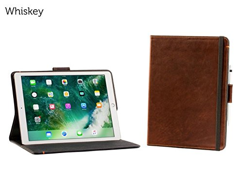 Oxford Leather iPad Pro 12.9 Case with Pencil Holder - Whiskey | Leather iPad Case