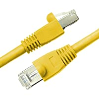 NTW 5' Cat6a Snagless Shielded (STP) RJ45 Ethernet Network Patch Cable - Yellow