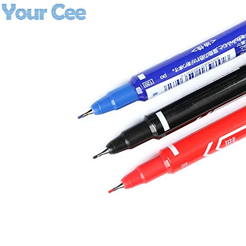 2PCS CCL Anti-etching PCB circuit board Ink Marker Double Pen For DIY PCB BLUE