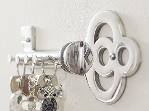 decorative wall mounted key holder multiple key hooks. Black Bedroom Furniture Sets. Home Design Ideas