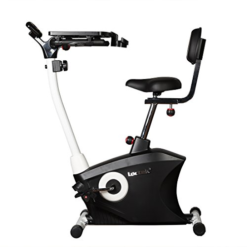 Loctek Exercise bike Desk bike Office Cardio Indoor Stationary Workstation Cycling with Laptop Upright bike