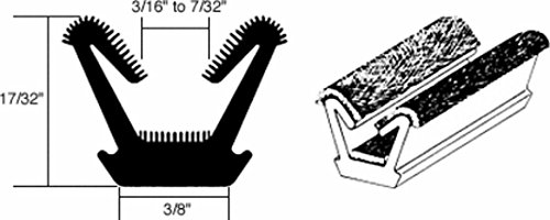 CRL Flexible Flocked Rubber Glass Run Channel for 1963-1966 Valiant and Dart - 96 in (Valiant Dart)