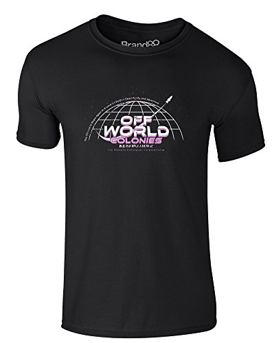 Off World Colonies, Adults T-Shirt - Black -