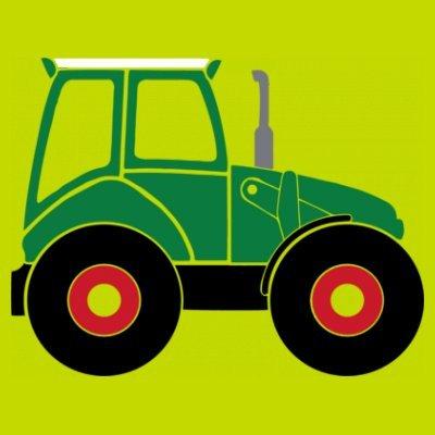 Sudadera con capucha de mujer Green Tractor by Shirtcity verde limón