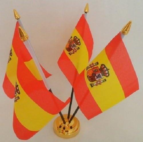 UKFlagShop Banderas de España con 4 Banderas de España para Mesa ...