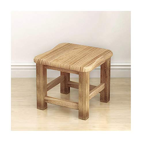 MCLY Shower Seats, Small Light Color Old Man Waterproof Footstool, Household Solid Wood Adult Non-Slip Shoes Bench