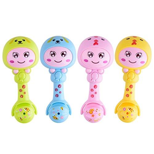 Price comparison product image YJYdada Baby Toy Cartoon Animal LED Light Handbell Musical Developmental Instrument