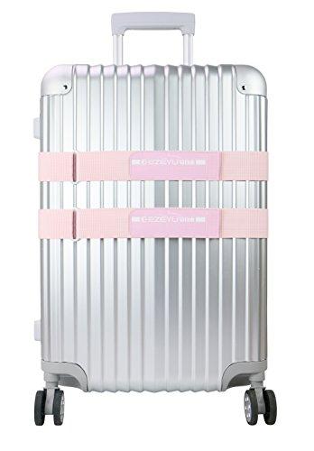 Pink 2 Strap - LLFSD Adjustable Luggage Straps Suitcase Belt Travel Bag Strap (Pink 2-Pack)