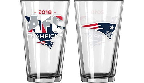 Boelter New England Patriots 2018 AFC Champions Pint Glass