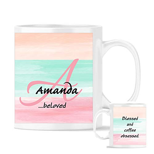 (Personalized Meaning of Your Name Coffee Cup Mug Name all over Exclusive Design 11 oz Ceramic Mothers Day Gift)