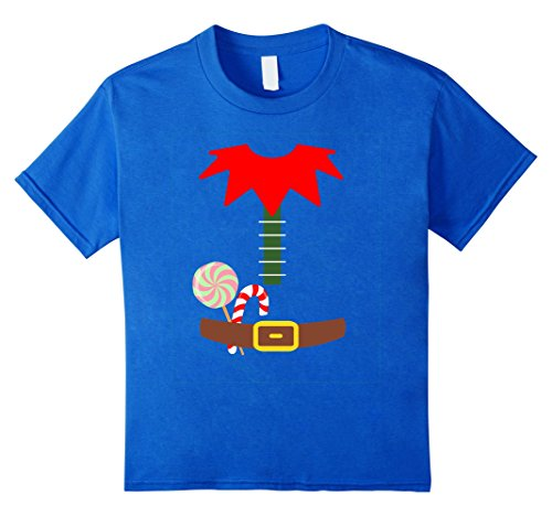 Xmas Elf Costumes (Kids ELF COSTUME Christmas Shirt | Xmas Santa Helper T-Shirt 6 Royal Blue)