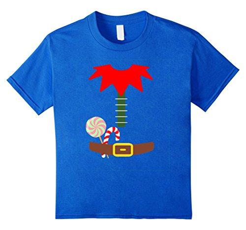 Kids ELF COSTUME Christmas Shirt | Xmas Santa Helper T-Shirt 6 Royal Blue