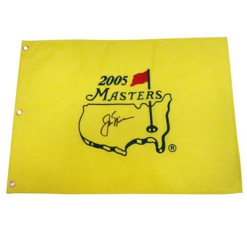 Jack Nicklaus Autographed 2005 Masters Golf Pin Flag - Last Masters