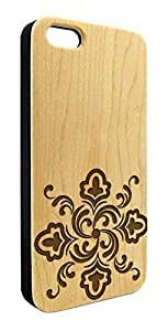 Genuine Maple Wood Organic Spiral Flower Design Snap-On Cover Hard Case for iPhone 6 Plus